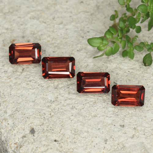 0.5ct Octagon Step Cut Medium Red Pyrope Garnet Gem (ID: 480774)
