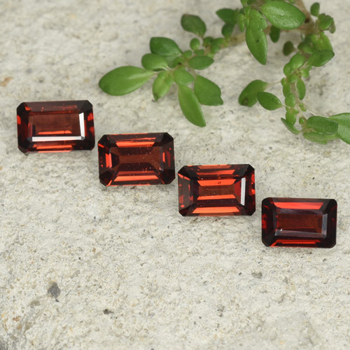 0.7ct Octagon Step Cut Deep Red Pyrope Garnet Gem (ID: 480775)