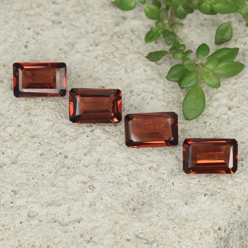 0.5ct Octagon Step Cut Scarlet Red Pyrope Garnet Gem (ID: 480778)