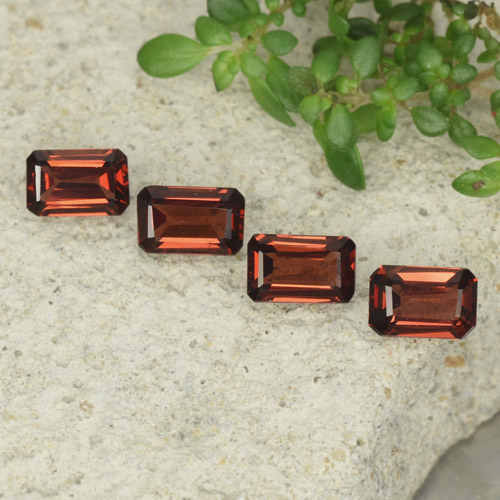 0.6ct Octagon Step Cut Medium Red Pyrope Garnet Gem (ID: 480913)