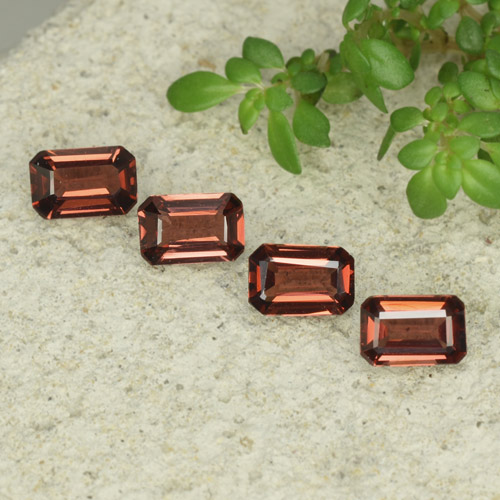 0.5ct Octagon Step Cut Sangria Red Pyrope Garnet Gem (ID: 480915)