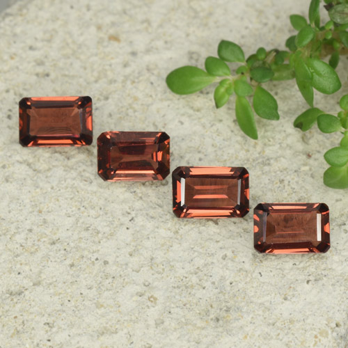0.7ct Octagon Step Cut Deep Red Pyrope Garnet Gem (ID: 480916)