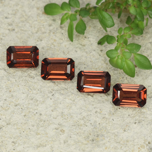0.5ct Octagon Step Cut Deep Red Pyrope Garnet Gem (ID: 480917)