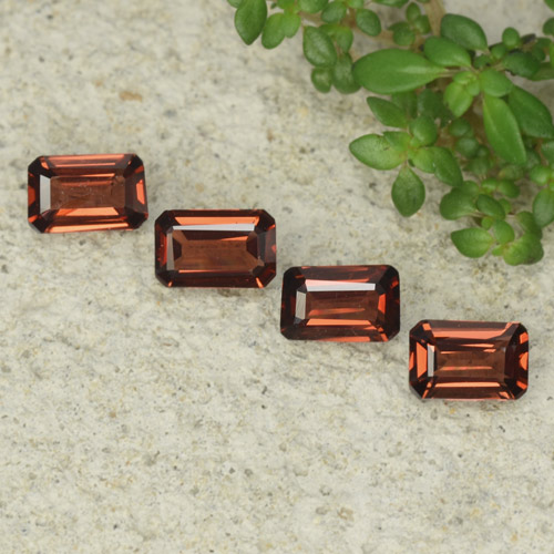 0.5ct Octagon Step Cut Medium Red Pyrope Garnet Gem (ID: 480920)