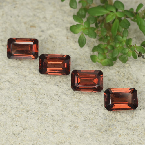 0.7ct Octagon Step Cut Medium Red Pyrope Garnet Gem (ID: 480921)
