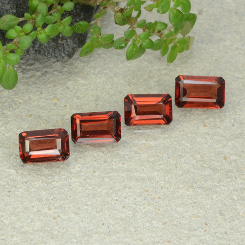 0.5ct Octagon Step Cut Medium Red Pyrope Garnet Gem (ID: 480924)