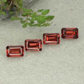 0.6ct Octagon Step Cut Scarlet Red Pyrope Garnet Gem (ID: 480926)
