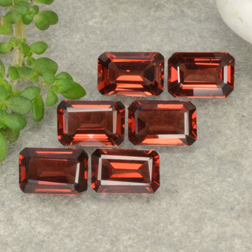 0.6ct Octagon Step Cut Scarlet Red Pyrope Garnet Gem (ID: 480927)