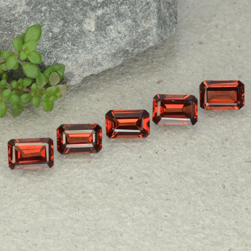 0.7ct Octagon Step Cut Medium Red Pyrope Garnet Gem (ID: 480928)