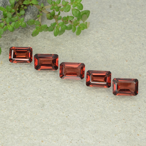 0.6ct Octagon Step Cut Scarlet Red Pyrope Garnet Gem (ID: 480930)