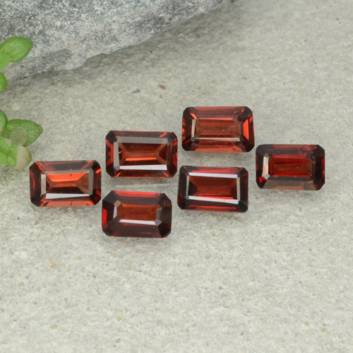 0.5ct Octagon Step Cut Dark Red Pyrope Garnet Gem (ID: 480934)