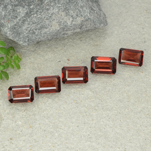 0.6ct Octagon Step Cut Dark Red Pyrope Garnet Gem (ID: 480935)