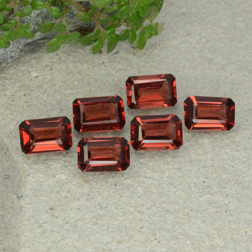0.6ct Octagon Step Cut Deep Red Pyrope Garnet Gem (ID: 480938)
