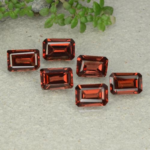 0.7ct Octagon Step Cut Deep Red Pyrope Garnet Gem (ID: 480941)