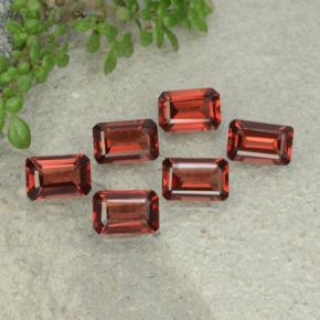 0.6ct Octagon Step Cut Deep Red Pyrope Garnet Gem (ID: 480944)