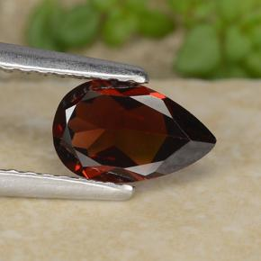 0.9ct Pear Facet Deep Red Pyrope Garnet Gem (ID: 487334)