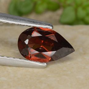 0.9ct Pear Facet Red Pyrope Garnet Gem (ID: 487335)