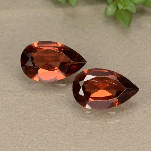 Red Pyrope Garnet Gem - 0.8ct Pear Facet (ID: 487778)