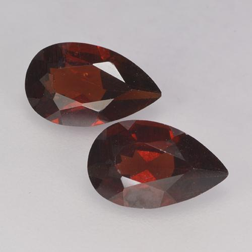 Deep Red Pyrope Garnet Gem - 1ct Pear Facet (ID: 487782)