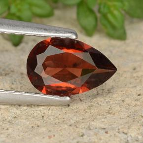 thumb image of 0.8ct Pear Facet Red Pyrope Garnet (ID: 487868)