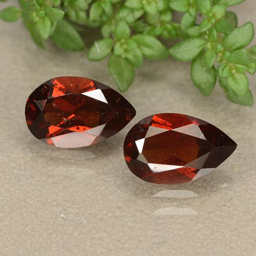 Red Pyrope Garnet Gem - 1ct Pear Facet (ID: 487875)