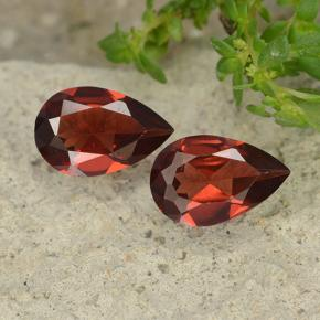 Deep Red Pyrope Garnet Gem - 0.9ct Pear Facet (ID: 488089)