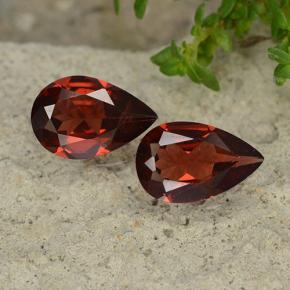 Red Pyrope Garnet Gem - 0.8ct Pear Facet (ID: 488093)