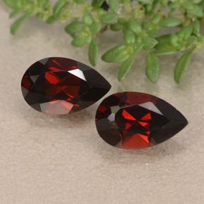 Red Pyrope Garnet Gem - 1.1ct Pear Facet (ID: 488475)