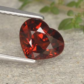 Intense Red Pyrope Garnet Gem - 1.7ct Heart Facet (ID: 495387)