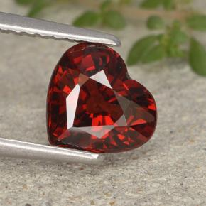thumb image of 1.8ct Heart Facet Red Pyrope Garnet (ID: 495390)