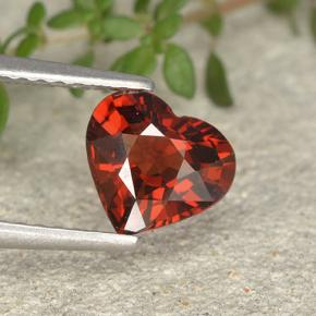 thumb image of 1.2ct Heart Facet Red Pyrope Garnet (ID: 495428)