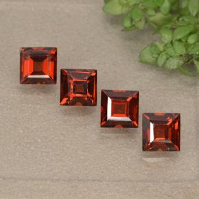 Red Pyrope Garnet Gem - 0.5ct Square Step-Cut (ID: 497533)