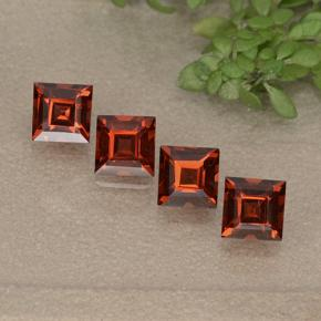 Red Pyrope Garnet Gem - 0.5ct Square Step-Cut (ID: 497537)