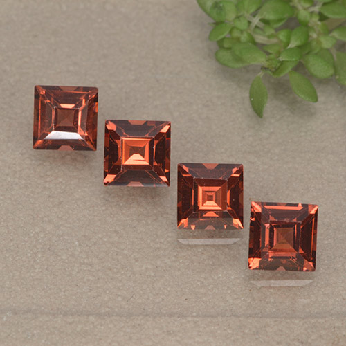 Red Pyrope Garnet Gem - 0.5ct Square Step-Cut (ID: 497541)