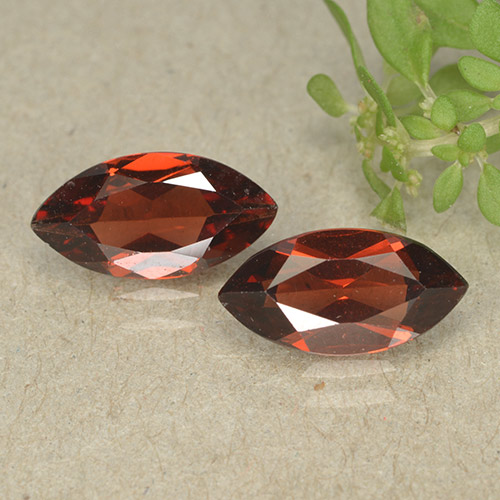 Red Pyrope Garnet Gem - 1.2ct Marquise Facet (ID: 498309)