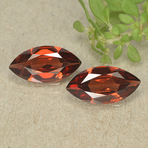Red Pyrope Garnet Gem - 1.1ct Marquise Facet (ID: 498310)