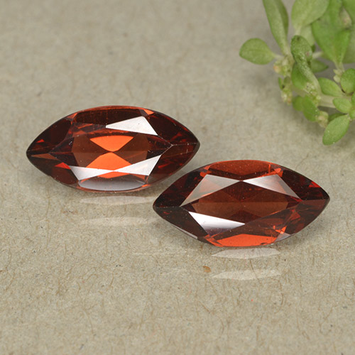 Sangria Red Pyrope Garnet Gem - 1.1ct Marquise Facet (ID: 498312)