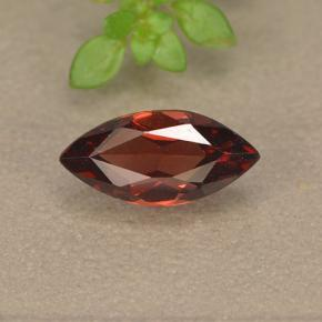 Rouge Grenat Pyrope gemme - 1.1ct Marquise facette (ID: 498318)
