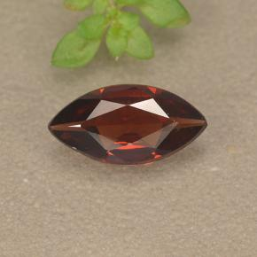 Deep Red Pyrope Garnet Gem - 1ct Marquise Facet (ID: 498326)