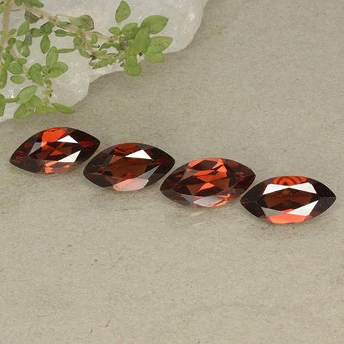 Red Pyrope Garnet Gem - 1.2ct Marquise Facet (ID: 498643)