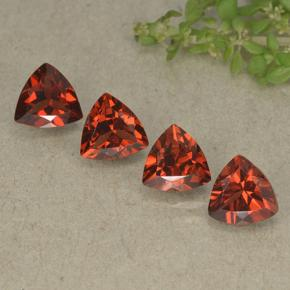 Bright Red Granate Piropo Gema - 0.9ct Forma trillón (ID: 498796)