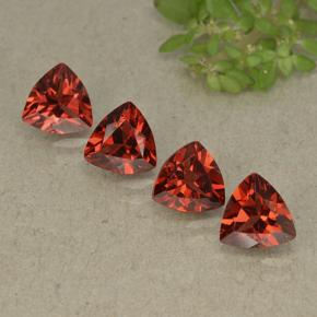 Red Pyrope Garnet Gem - 0.9ct Trillion Facet (ID: 498800)