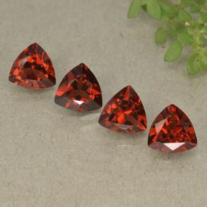 Red Pyrope Garnet Gem - 0.9ct Trillion Facet (ID: 498815)