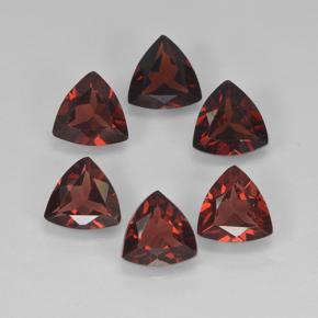 Red Pyrope Garnet Gem - 0.8ct Trillion Facet (ID: 499035)
