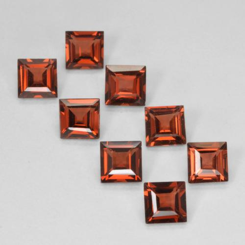 Orange Red Pyrope Garnet Gem - 0.4ct Square Step-Cut (ID: 500206)
