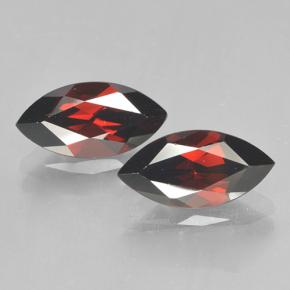 2.3ct Marquise Facet Deep Red Pyrope Garnet Gem (ID: 502052)