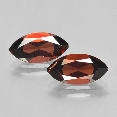 Red Pyrope Garnet Gem - 2ct Marquise Facet (ID: 502053)