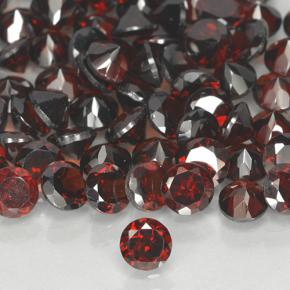 Deep Red Pyrope Garnet Gem - 0.4ct Round Facet (ID: 503911)