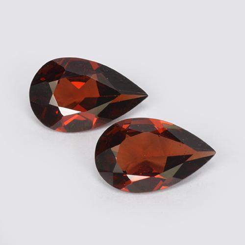 Red Pyrope Garnet Gem - 0.8ct Pear Facet (ID: 511937)
