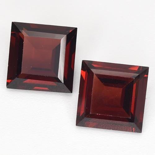 Deep Red Pyrope Garnet Gem - 2.2ct Square Step-Cut (ID: 513490)